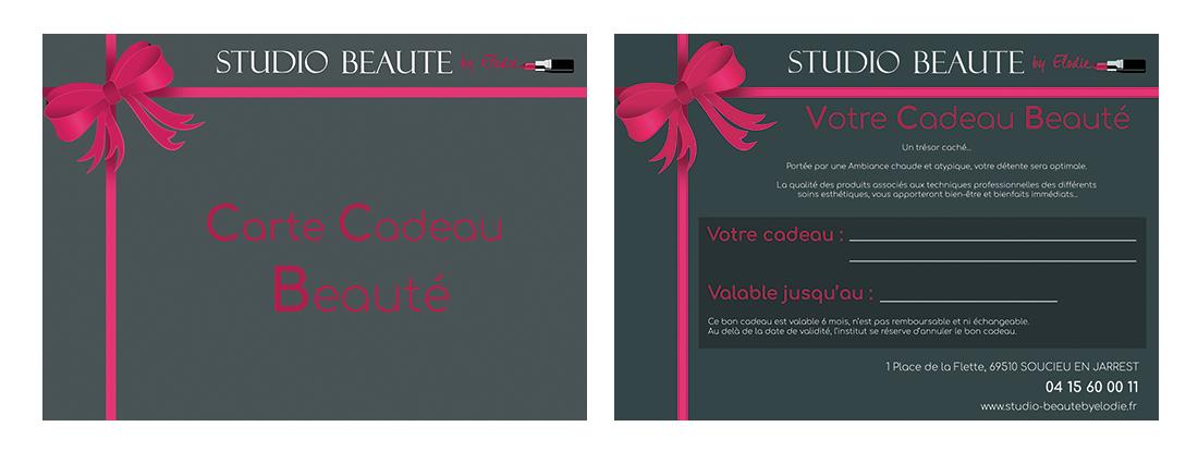 Carte cadeau Studio Beauté